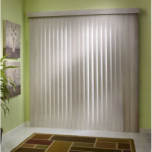 Style Selections 3.5-in Cordless Light-taupe Vinyl Room Darkening Vertical Blind