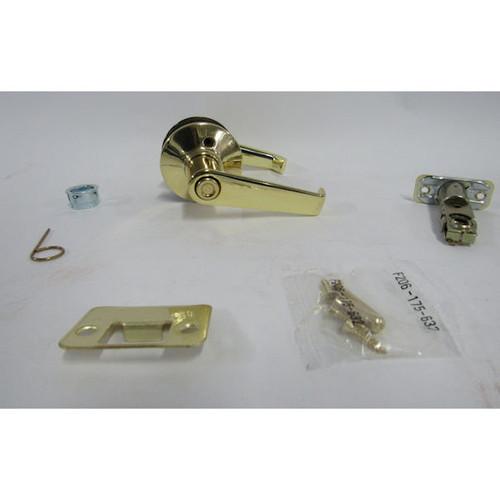 Schlage F40 ELA 605  Bright Brass Privacy Door Handle (New Damaged Box)