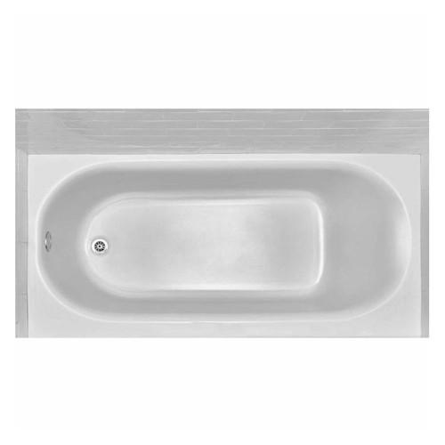 American Princeton 60 in. x 30 in.Apron-Front Bathtub w/Left Hand Drain