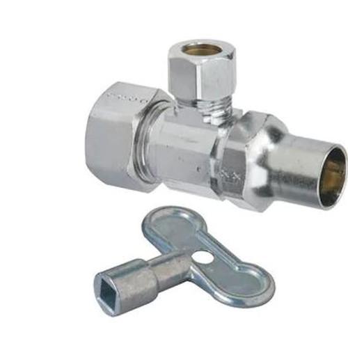 Brass Craft SCR1912DLXC Toilet 1/2 in x 3/8 in. x 11-1/2 in.Supply Kit in Chrome