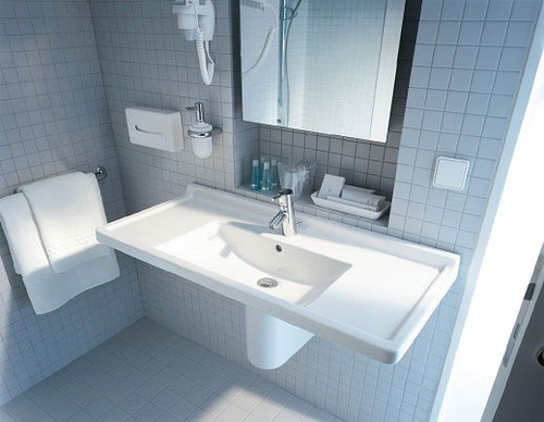 Duravit 0304800000 Starck 3 33-1/2-Inch Single-Hole Furniture Washbasin, White