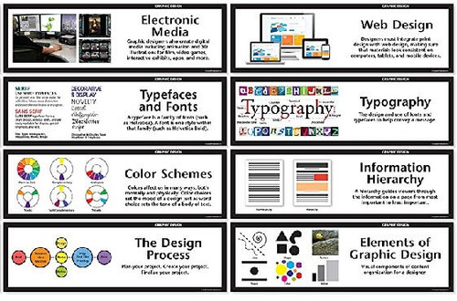 Crystal Productions CP1850 Graphic Design Display Cards Set of 16