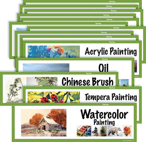 Crystal Productions CP1810 Art Display Cards-Painting Set of 16