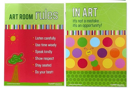 Crystal Productions CP1893 Art Room Basics Set of 4 Posters
