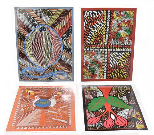 American Educational Products 336138 Aboriginal Art Prints Pack of 12