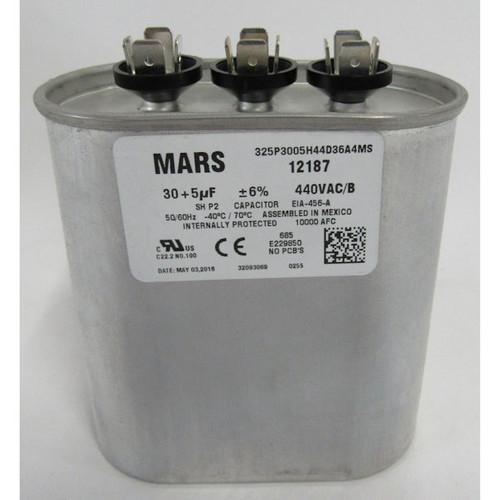 Mars 12187 Motor Run Capacitor 30/5 MFD