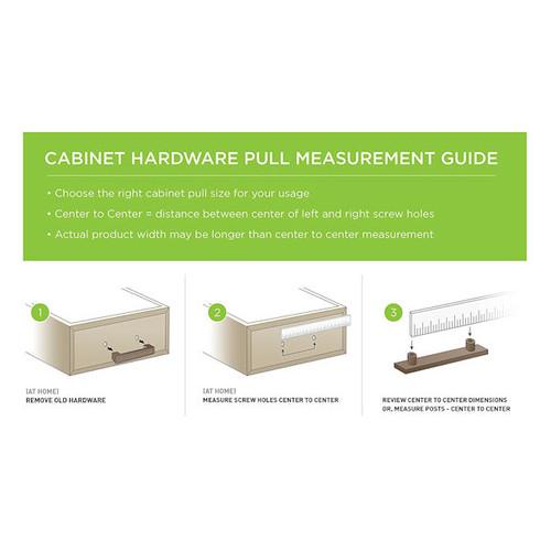 Liberty P01016-SS-C 256/336mm Cabinet Hardware Handle Steel Bar Pull