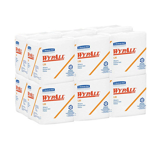 WypAll L30 Towels, Quarter Fold, 12 1/2 x 12, 90 per Box (Case of 12 Boxes)