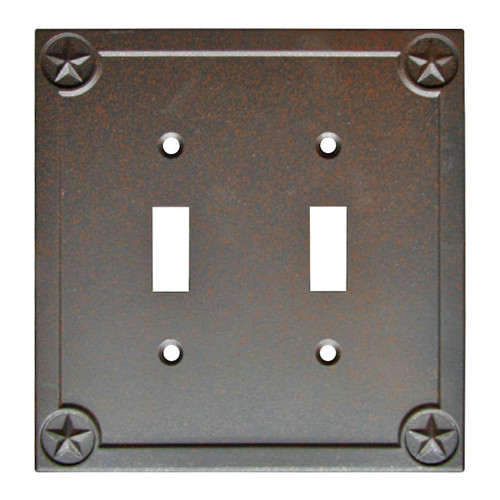 Style Selections Texas Star 2-Gang Rust Double Toggle Wall Plate - Pack of 5