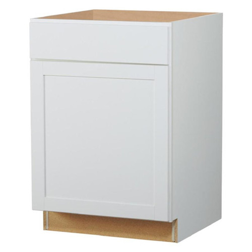 Arcadia 24-in W x 35-in H x 23.75-in D TrueColor White Door And Drawer Base Cabinet