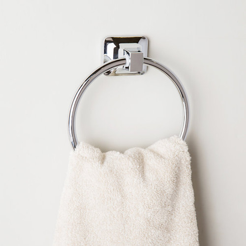 Project Source Seton Chrome Finish Wall Mount Towel Ring