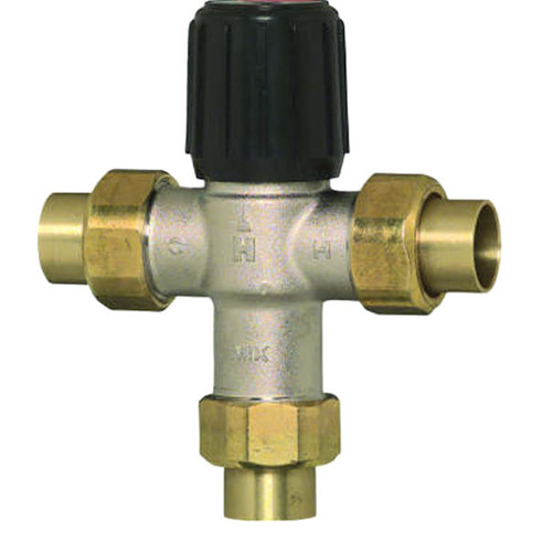 "Honeywell AM-1 1070 series, 1/2"", Thermostatic Mixing Valve,70-120F"