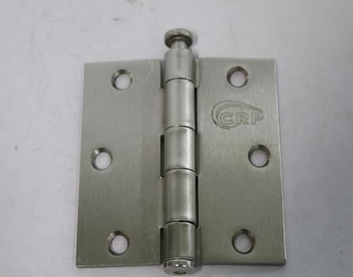 Cal-Royal 3-1/2 in. Full Mortise Plain Bearing Hinge In Satin Nickel, 2 Per Box