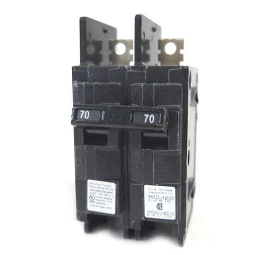 Siemens 70 Amp 2-Pole Type BQ 10 kA Lug-In/Lug-Out Circuit Breaker - BQ2B070