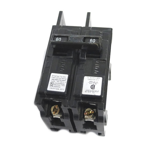 Siemens BQ2B060 60-Amp Double Pole 120/240-Volt 10KAIC Lug In/Lug Out Breaker