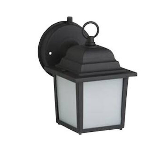 1- Light Fluorescent Wall Lantern with Photocell and Frosted Glass  (see notes)