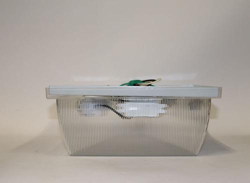 Liteco L23119 13w G24 2-Light Outdoor Ceiling Fixture White / Black