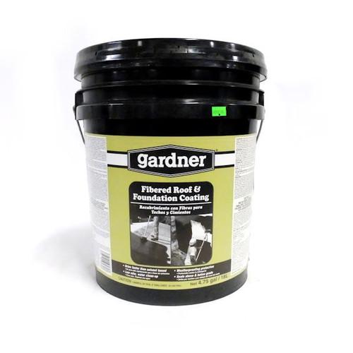 Gardner-Gibson 401405030 Fibered Asphalt Based Roof & Foundation Coating - 4.75 GAL