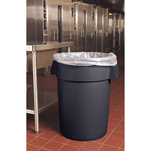 Carlisle 34104423 Bronco Round Waste Container Only in Grey - 44 Gallon