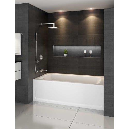"""Jacuzzi Signature J1A6030BLXXXXY 60"""" Acrylic Soaking Bathtub - Oyster"""