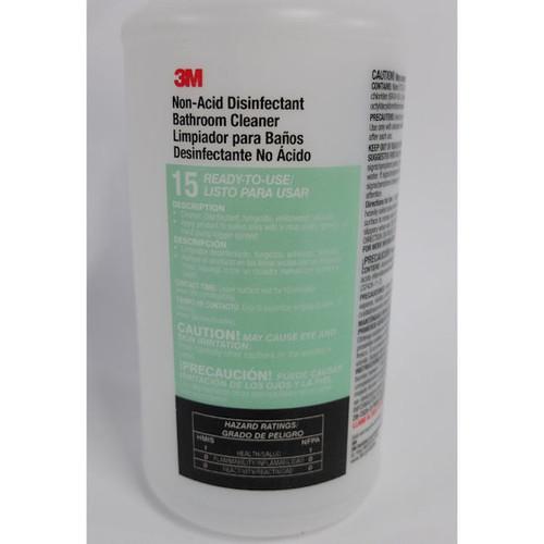 3M #15 Non-Acid Bathroom Cleaner, 32 oz. Spray Bottle, (24 Pack) (see notes)