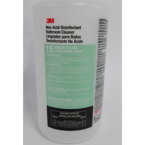 3M #15 Non-Acid Bathroom Cleaner, 32 oz. Spray Bottle, (24 Pack) (see notes)