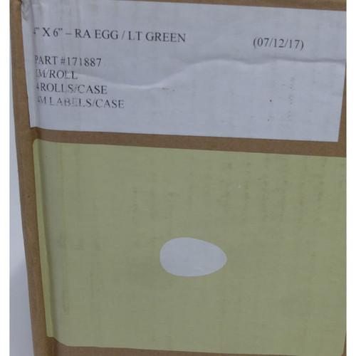 "4"" x 6"" - RA EGG /LT GREEN  1M / ROLL , 4 ROLLS PER CASE  (see notes)"