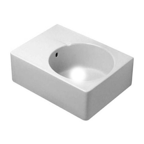 "Duravit 06856000001 White/WonderGliss/No Tap Hole Wash Basin 24-1/4"" w/ Overflow"