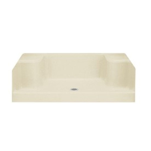 "Advantage 62041100-47 60"" x 34"" Seated Shower/Receptor , Almond (New Brown Box)"