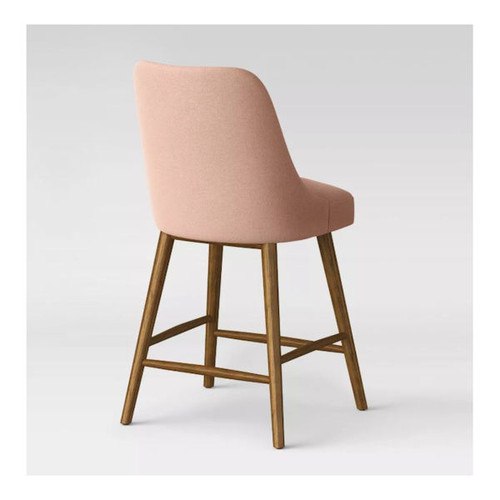 "24"" Geller Modern Counter Stool in Blush/Chestnut"