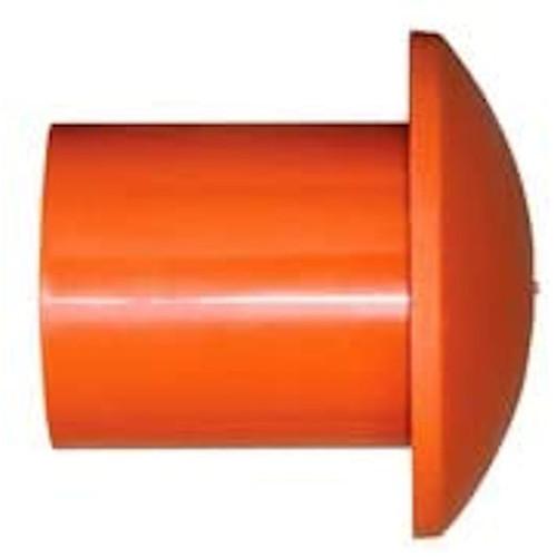 Bag of 25-Pack #3 to #8 Plastic Orange Rebar Safety Caps