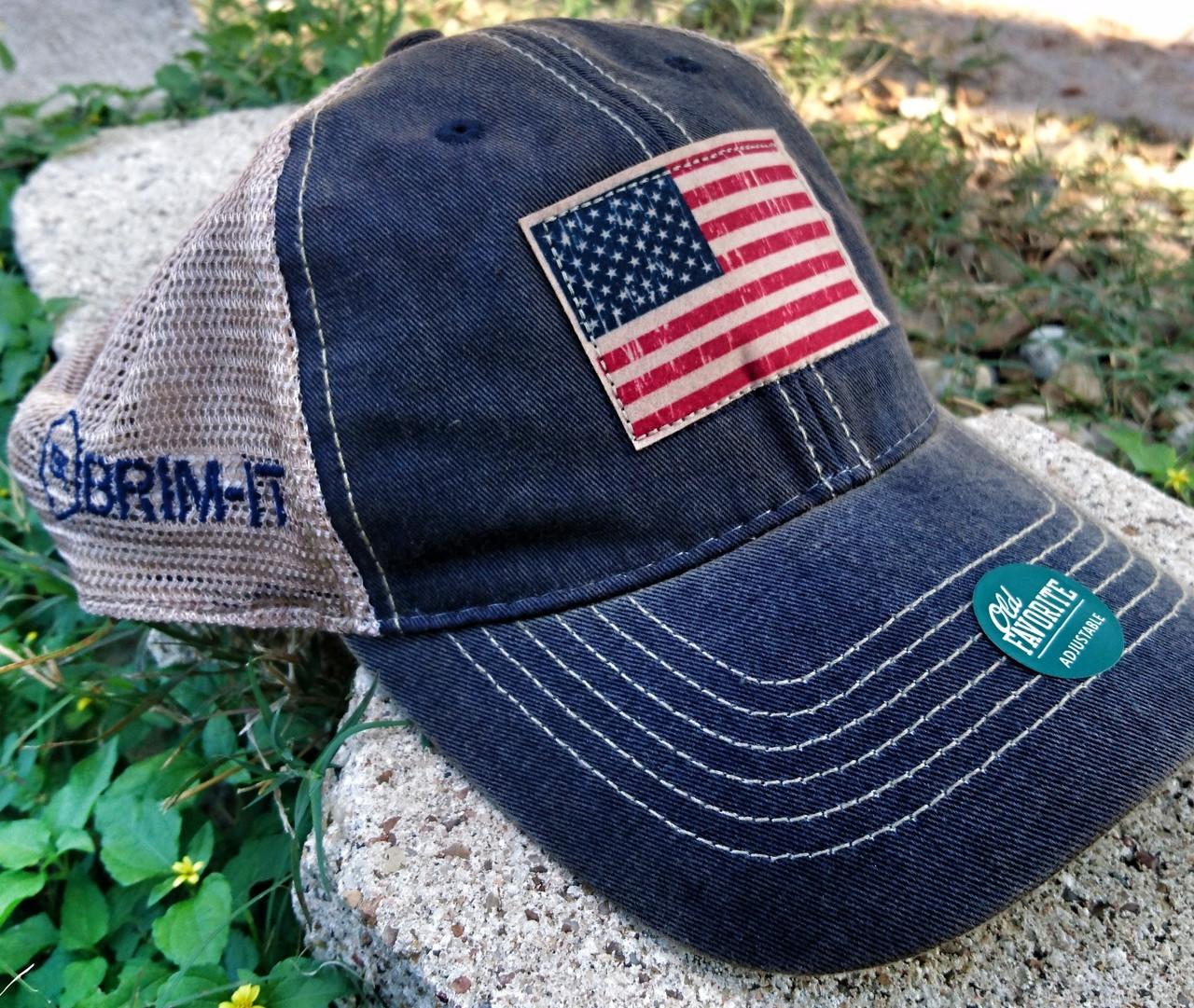American Flag trucker mesh back - Brim-it 35c5e9e934c7