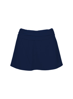 Basics ruched a-line skirt
