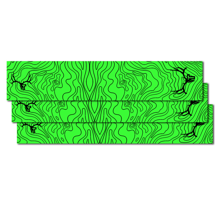 Tall Tine Arrow Wraps - Green Topography Map - 12 pack