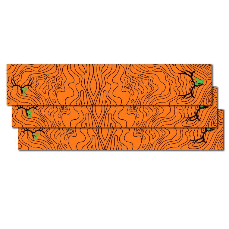 Tall Tine Arrow Wraps - Orange Topography Map - 12 pack