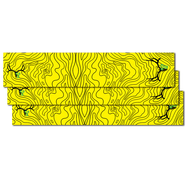 Tall Tine Arrow Wraps -Yellow Topography Map - 12 pack