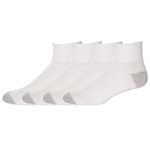 American Made Athletic Quarter Socks (12 Pair Pack) Choose Size & Color