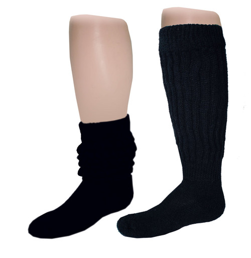 American Made Heavy Slouch Socks Size 9-11 6 Pair Choose Color