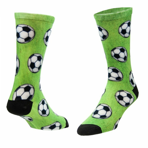 Sublimity Soccer Ball All Over Novelty Socks (1 pair) Men's Casual Dress Socks One Size Fits Most