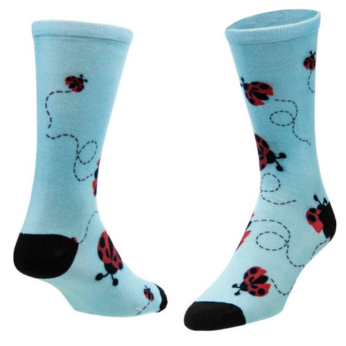 Sublimityr Ladybug Flying All Over Novelty Socks (1 pair ) Men's And Women's Casual Dress Socks One Size Fits Most