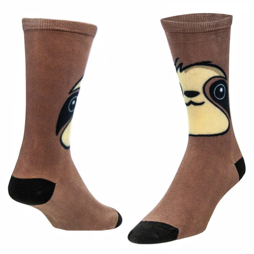 Sublimityr Sloth Face Novelty Socks (1 pair) Men's and Women's Casual Dress Socks One Size Fits Most