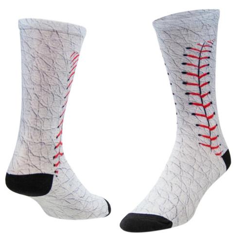 Sublimity® Baseball Allover Novelty Socks (1 Pair) Men's & Women's Casual Dress Socks, One Size Fits Most