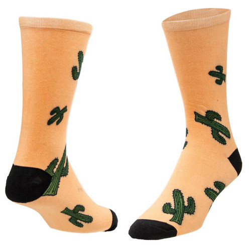 Sublimity® Cactus all over Novelty Socks (1 Pair) Men's and Women's Casual Dress Socks, One Size Fits Most