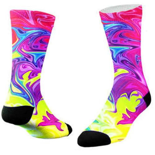 Sublimity® Dancing Colors Tie Dye Print Crew Socks (1 Pair)