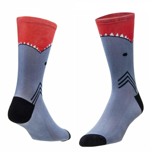 Sublimity® Shark Bite Novelty Socks (1 Pair) Men's Casual Dress Socks, One Size Fits Most