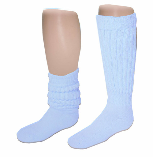 Sublimity® Mid weight Slouch Socks_Light Blue