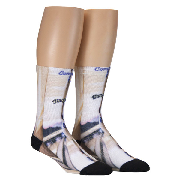 Sublimity® Print Bowling Crew Socks (1 Pair) In-Line Stacked Pin