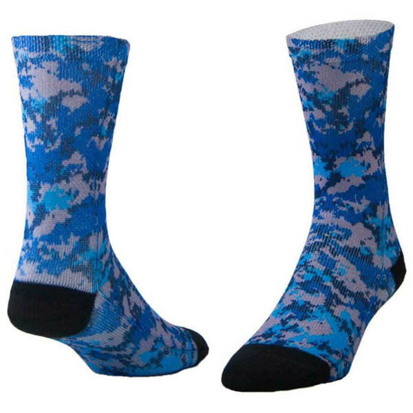 Sublimity® Camouflage Print Crew Socks Sport Blue Camo (1 Pair) Size 10-13