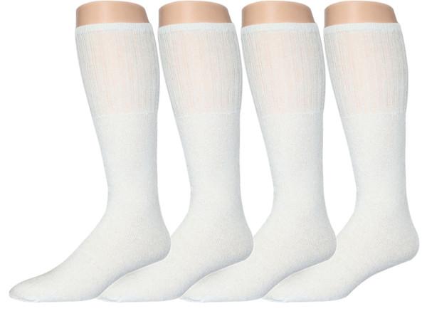 White Cotton Calf Length Tube Socks_Men's_White 6 pair pack