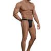 Men's Underwear - Male Power Bamboo Sport Jock in Black Front View